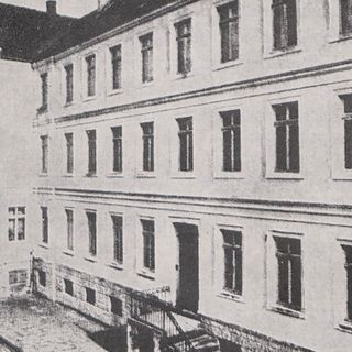 The third Motherhouse in the Overbergstraße (from 1858 to 1878); it was sold when expelled from Germany during the 'Kurturkampf' and destroyed during the World War 1939 - 1945.