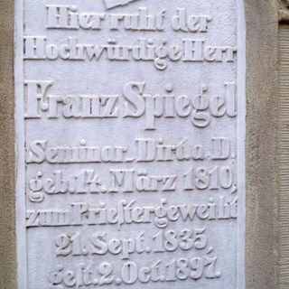 The grave of Franz Spiegel.
